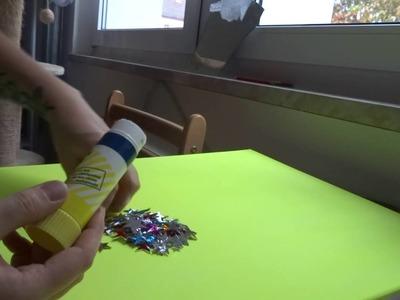 DIY Wandbild Sternenhimmel mit Fluorfarben schnell zaubern