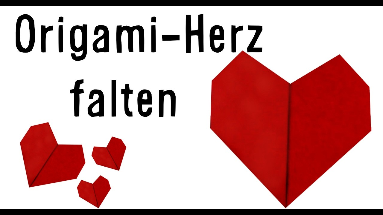 origami herz falten zum valentinstag. Black Bedroom Furniture Sets. Home Design Ideas