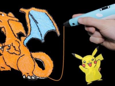 Pokemon Pikachu und Glurak mit 3D Stift erstellen - DiY✌
