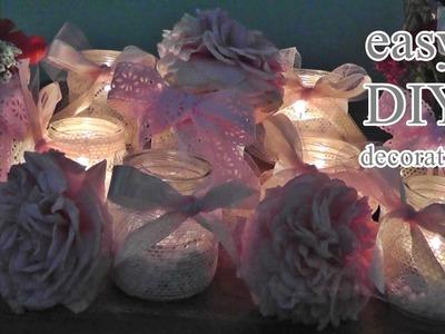 DIY Upcycling Baby Food Jar I Decoration I Windlicht - Blumenvase aus Babygläschen