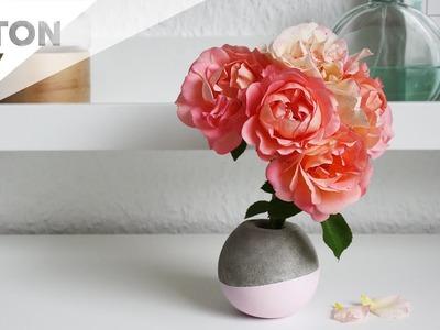Kugelvase aus Beton | DIY Anleitung