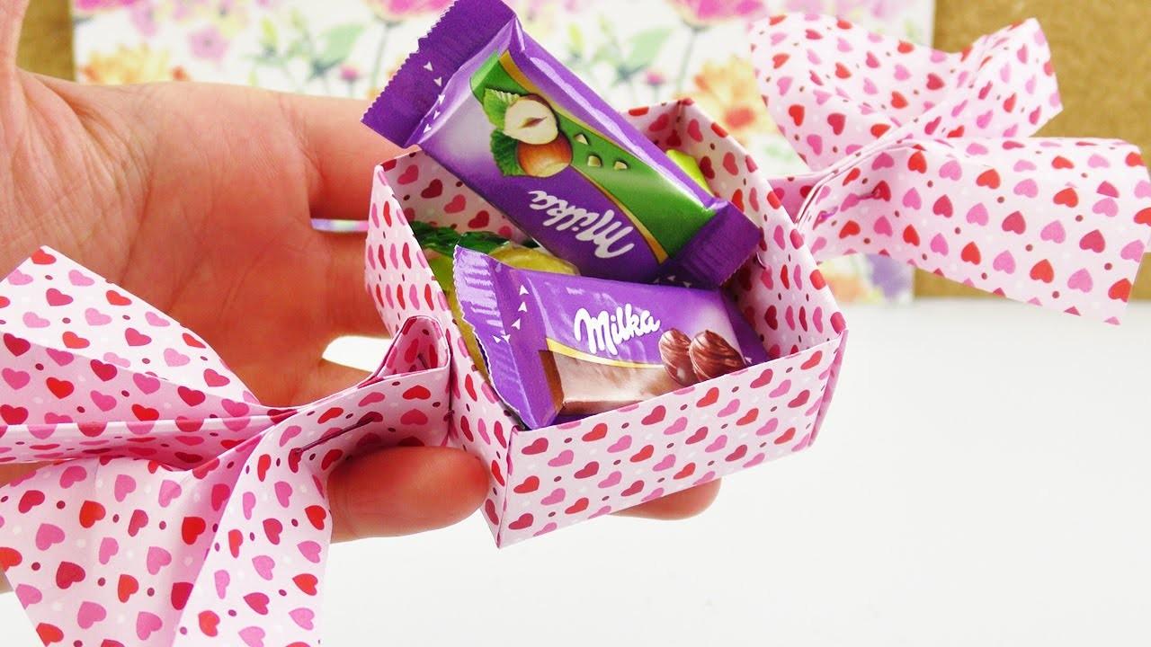 Süße Bonbon Aufbewahrung basteln