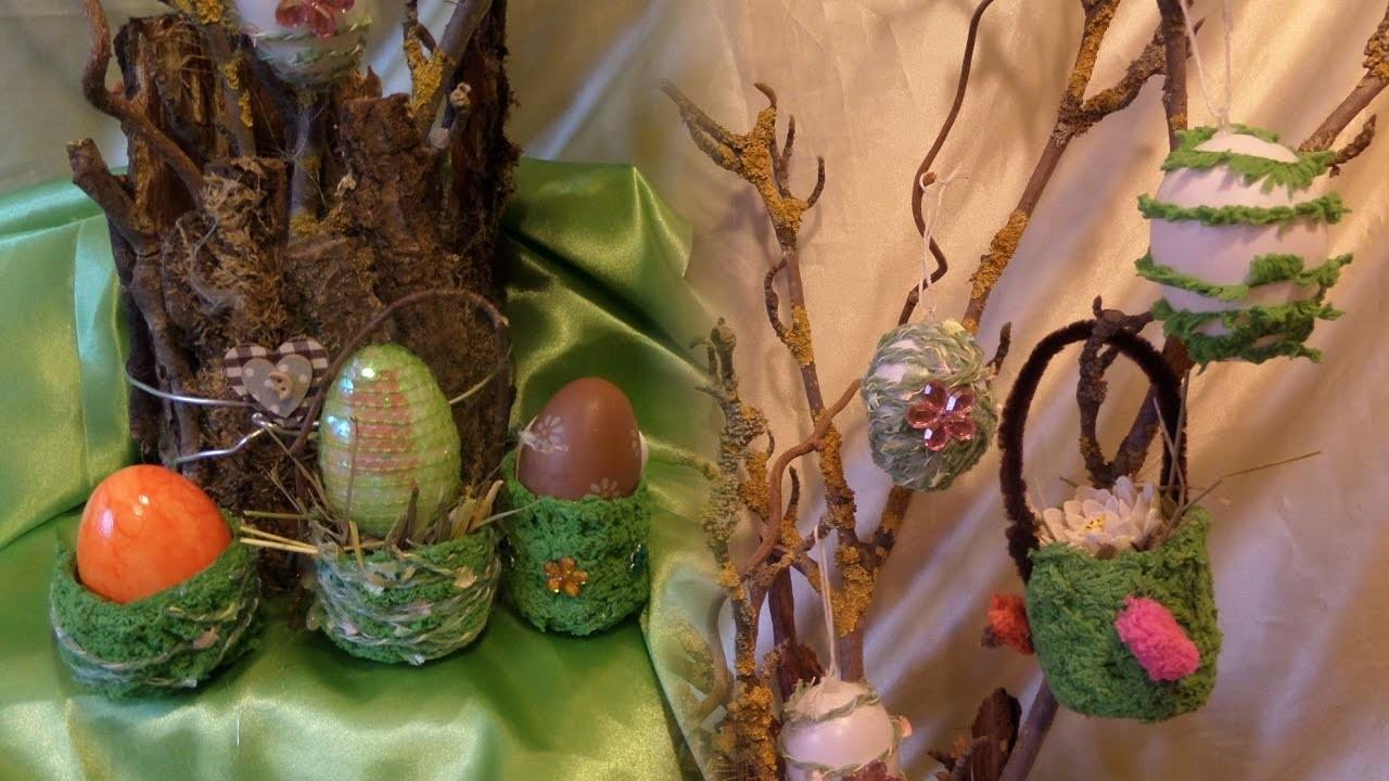 DIY:In WICKELTECHNIK für1€,Eierbecher,Körbchen,DEKO-Eier EASYselber machen, KINDER Bastelidee,How-to