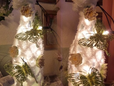 DIY:LED Schmetterlings DEKO Leuchte. Lampe ,SELBER MACHEN;Upsycling ,GESCHENK IDEE