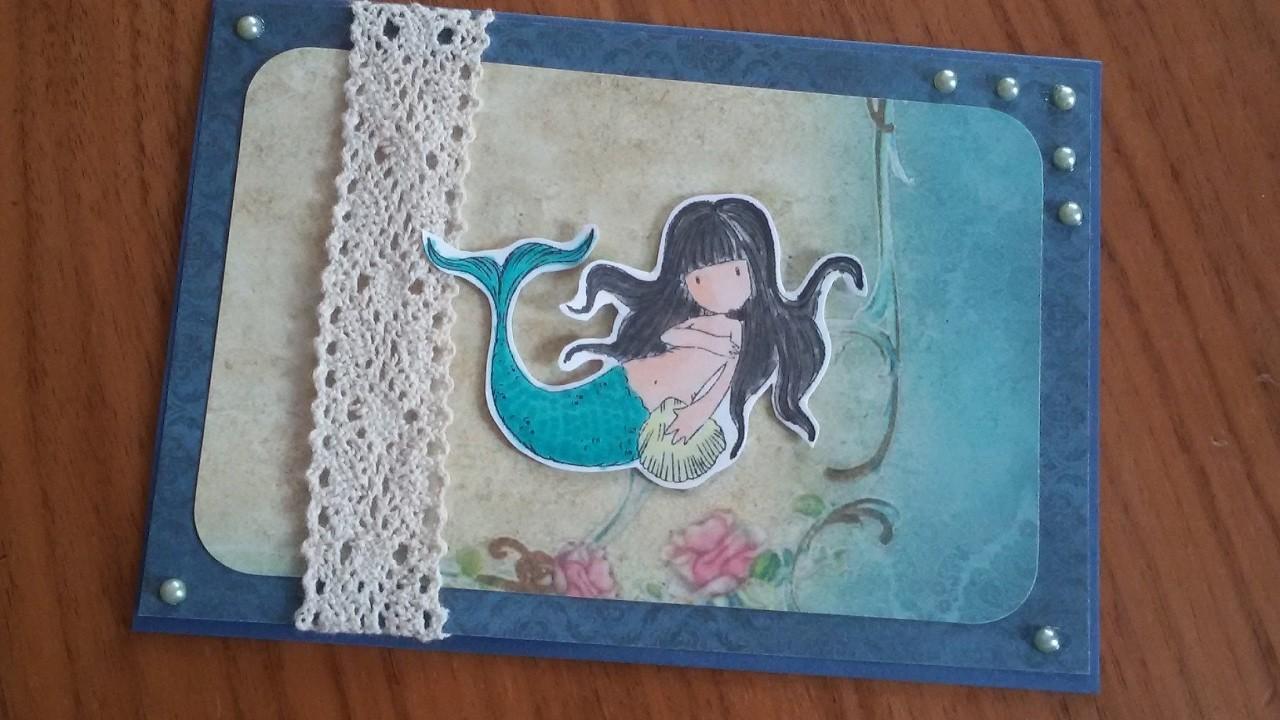 Gorjuss Week Card 4 | Mermaid Stamp | awashed | DIY | Karte basteln | basteln mit Papier | craft