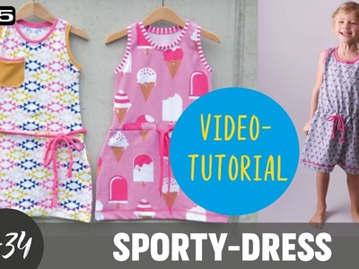 "Jerseykleid  ""Sporty-Dress"" selber nähen DIY-Näh-Tutorial"