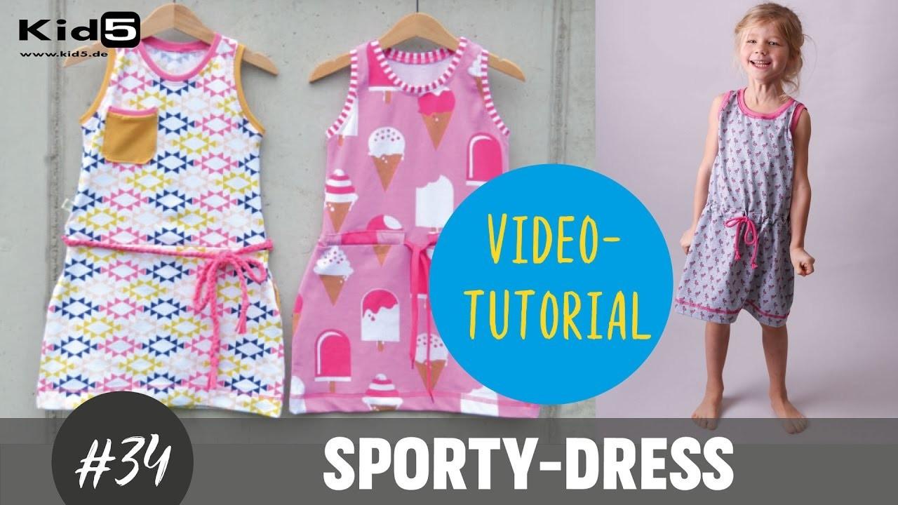 "Jerseykleid  ""Sporty-Dress"" selber nähen DIY-Näh-Tutorial"