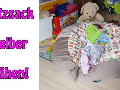Sitzsack für Kinder selber nähen | Nähen für Anfänger |DIY Tutorial
