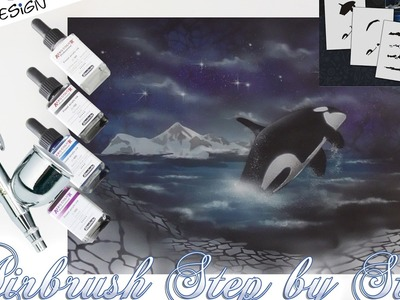 "Airbrush How-To Stencils AS-028 ""Orca"" UMR-Design (English.Deutsch)"