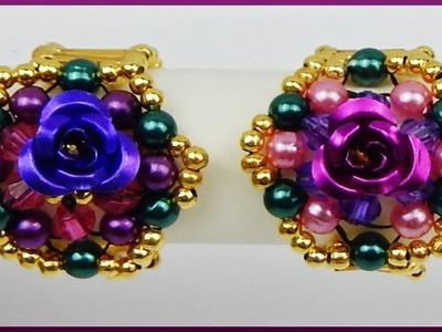 DIY | Blumen Ring aus Perlen fädeln | Schmuck basteln | Beaded ring with pearls  | jewellery