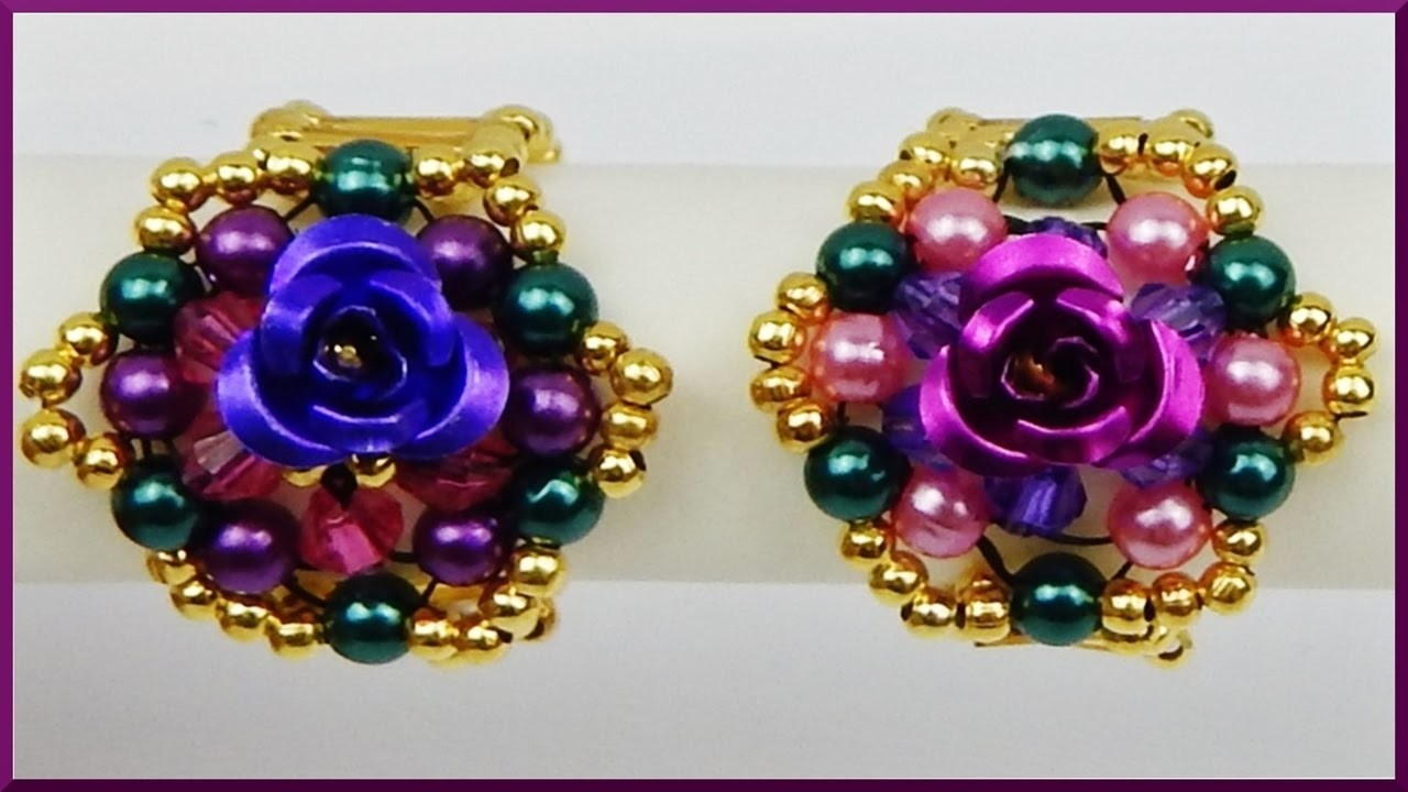 DIY   Blumen Ring aus Perlen fädeln   Schmuck basteln   Beaded ring with pearls    jewellery