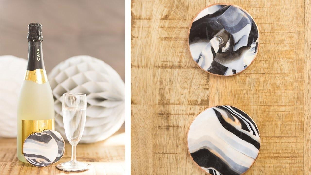 diy untersetzer in marmor optik aus fimo so einfach werden sie gemacht. Black Bedroom Furniture Sets. Home Design Ideas
