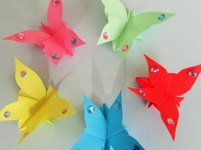 Flatternder Schmetterling aus Papier.Origami.DIY