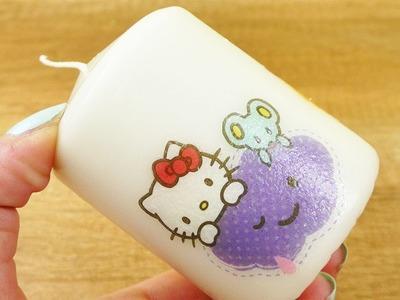 Hello Kitty Kerze selber machen | Süße DIY Idee als Geschenk & Geburtstags Idee | Katze