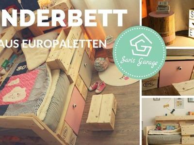Palettenbett für Kinder selber bauen - Kinderbett aus Europaletten - Bett - DIY Anleitung