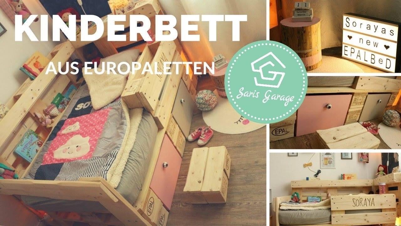 palettenbett für kinder selber bauen - kinderbett aus europaletten