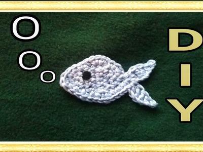 Schlüsselanhänger oder Aufnäher 'Fisch' häkeln • DIY  * Julebuergerfee