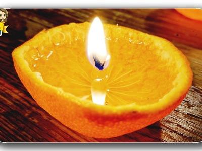 Wie man aus einer Mandarine eine Kerze macht????Schnell und einfach ???? (DIY Deutsch) ❤ Vier mal spass
