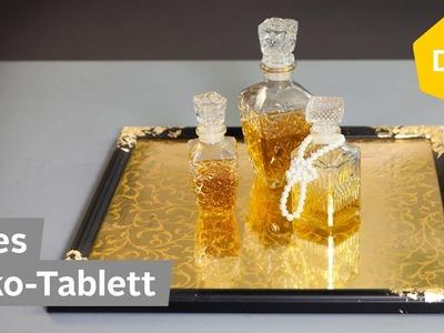 DIY: Edles Deko-Tablett einfach selber machen aus Bilderrahmen | Roombeez – powered by OTTO