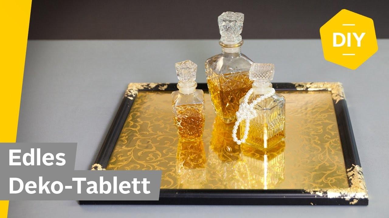 diy edles deko tablett einfach selber machen aus bilderrahmen roombeez powered by otto. Black Bedroom Furniture Sets. Home Design Ideas