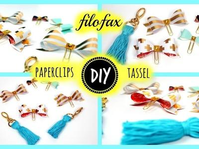 DIY filofax Dekoration, Papierschleifen, Paperclip, Tassel. Quaste +++ Bloopers;)