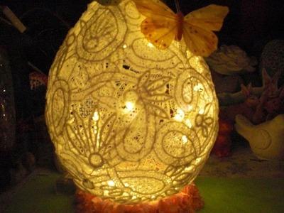 DIY - XXL Osterei aus Spitze - Lampen Ei zu Ostern aus Spitze