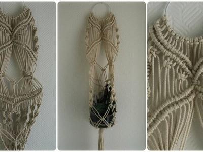 Makramee Blumenampel #2 * DIY * Macrame Plant Hanger [eng sub]
