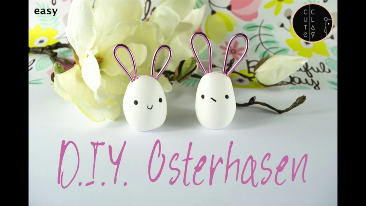 Osterhasen I Easter Bunnys I DIY with Polymer Clay I Tischdeko I Cute Clay