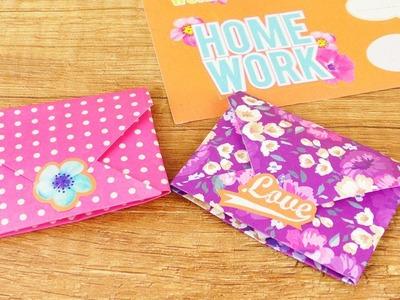 Süßen Umschlag falten | Niedliche DIY Idee für Kinder | Origami für Anfänger | Basteln