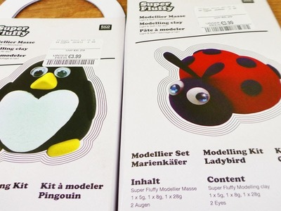 Super Fluffy Haul | Modellier Set für Marienkäfer & Pinguin | DIY Geschenk Idee