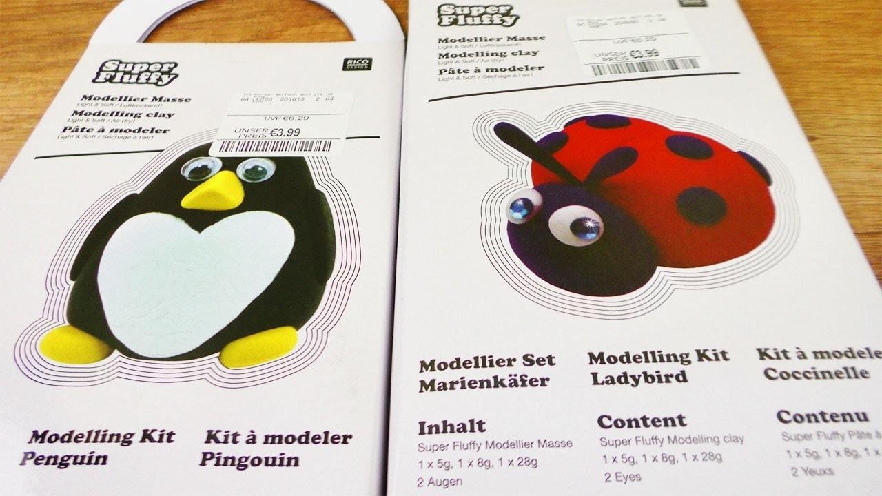 Super Fluffy Haul   Modellier Set für Marienkäfer & Pinguin   DIY Geschenk Idee