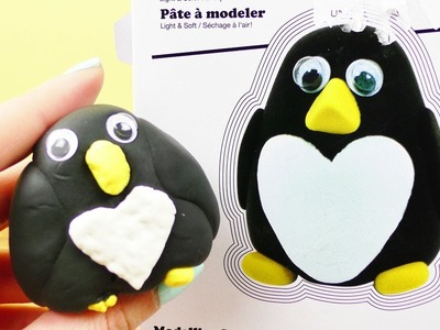 Super Fluffy Pinguin Set Demo | Süßen Pinguin selber machen | DIY Modellier Set