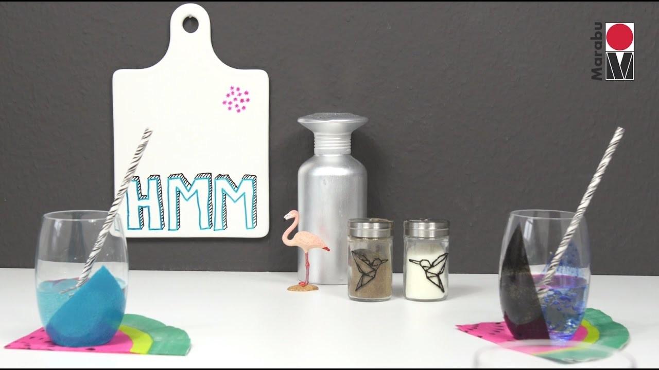 DIY: Glas und Porzellan bemalen