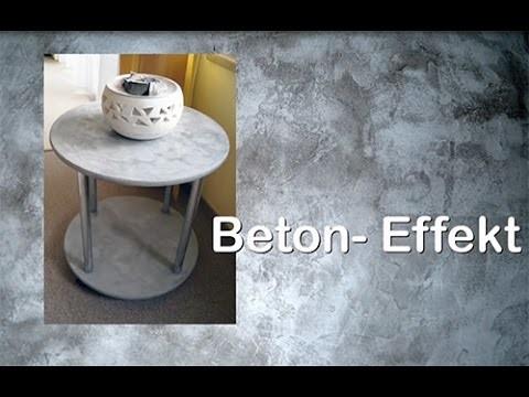 diy upcyling tisch mit beton effekt paste von viva decor. Black Bedroom Furniture Sets. Home Design Ideas
