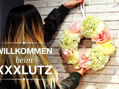 Frühlingskranz für die Haustüre - DIY Blumenkranz - XXXLutz