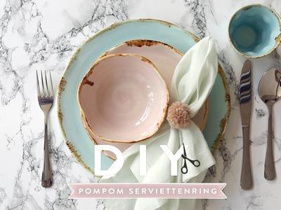 Pompom Serviettenring | WESTWING DIY-Tipps