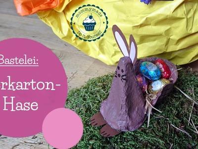 Basteln für Ostern | Eierkarton Osterhase | egg carton craft | DIY Bastelanleitung | mommymade