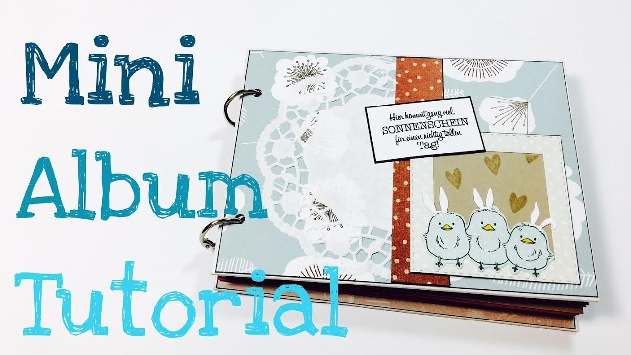DIY *30 Minunten* Mini Album [tutorial | deutsch] +Blog Hop Verlosung:)