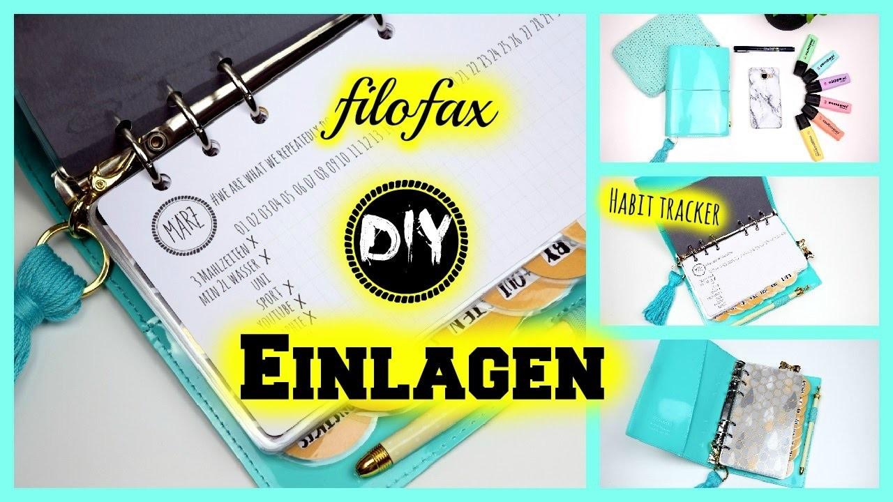 DIY Filofax Einlagen, Habit tracker mit Word, Paint und picmonkey :)