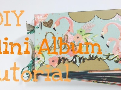 DIY Mini Album --Flamingo Spring-- [tutorial| deutsch]