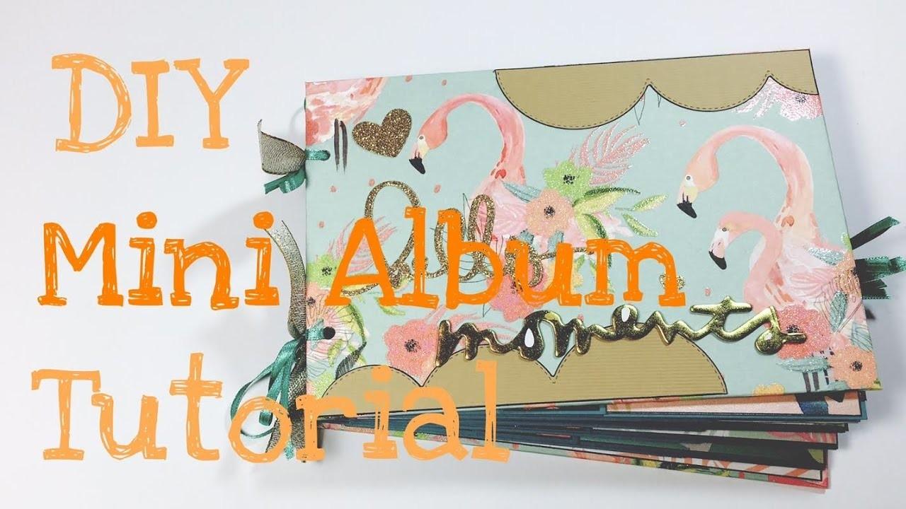 DIY Mini Album --Flamingo Spring-- [tutorial| deutsch]