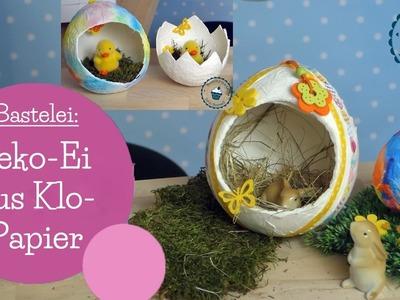 Deko-Ei aus Klopapier | toilet paper Easter egg | DIY Bastelanleitung | mommymade