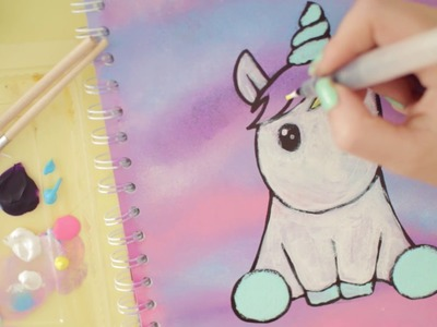DIY | Block umgestalten | How to draw unicorn | Einhorn malen || Foxy Draws