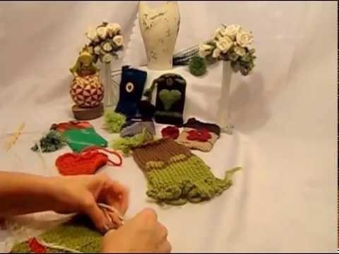 DIY:FILZ Smartphone,IPhone Tasche mit HERZ KOPFHÖRER  Tasche stricken + filzen.VERFILZEN