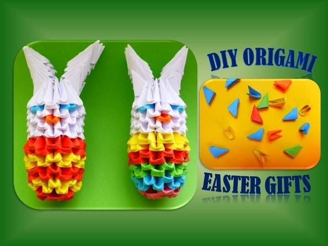 diy origami modular osterhase 3d geschenk zu ostern anleitung easter bunny tutorial gift ideas. Black Bedroom Furniture Sets. Home Design Ideas