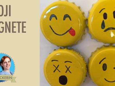 Emoji DIY I Smiley Kronkorken basteln I Magnete selber gestalten