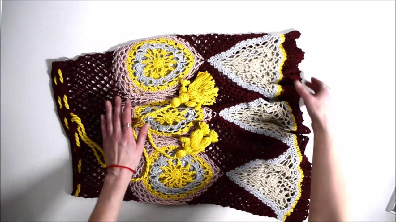 Gehäkelten Rock  in Folklore Stil. Crochet by Elena Obukhova