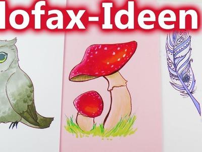 How to draw an owl? EULE PILZ & FEDER malen | Schöne kleine Bilder für den Kalender Filofax