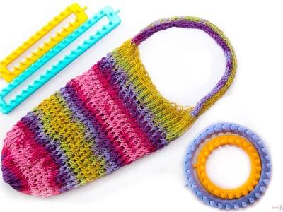 Knitting Loom - Strickring Einkaufsnetz | Netztasche | Tragetasche| Anleitung
