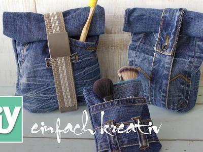 Kosmetiktasche aus Jeans | DIY einfach kreativ